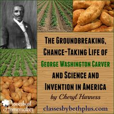 Enjoy learning about science and invention in America with this George Washington Carver unit study! Great ideas and resources to use. George Washington Carver, Teaching Reading, Reading Lists, Learning, Plant Science, Teaching Resources, Teaching Strategies, Teaching Ideas, American History