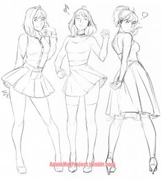 just having fun drawing Annie in diff outfits