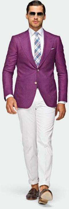 Totally love that purple jacket Mens Summer Blazers, Suit Supply, Future Clothes, Purple Jacket, Elegant Man, Suit Vest, Wedding Dress, Costume, Business Dresses