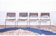 Product: Mart Stam Model S33 brown dining chairs (Mart Stam) | MARIEKKE Vintage Furniture