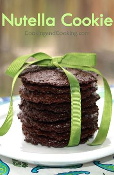 Nutella Cookie Recipe Easy Cookie Recipes, Easy Desserts, Delicious Desserts, Yummy Food, Cupcakes, Cupcake Cookies, Nutella Recipes, Chocolate Recipes, All You Need Is