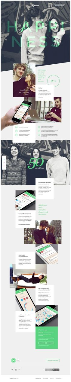 Wifeel website by Romain Briaux #website #webdesign #design #web #internet #site #webdesigner #designer #layout #template #theme #page #responsive