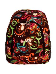 $13.75 Monkey Island Large Backpack with Brown Trim