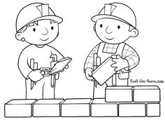 Free Printable Bob the Builder and Wendy Coloring Pages for kids