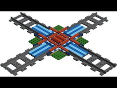 How to Build LEGO Train Rail Crossing MOC - YouTube