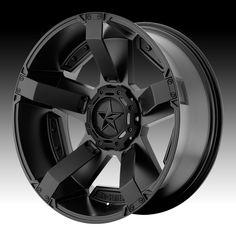 KMC XD Series XD811 RS2 Rockstar II Satin Black Custom Wheels Rims