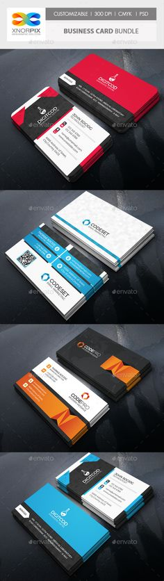 Business Card Bundle 3 in 1 Template PSD #visitcard #design Download: http://graphicriver.net/item/business-card-bundle-3-in-1vol-63/13485245?ref=ksioks