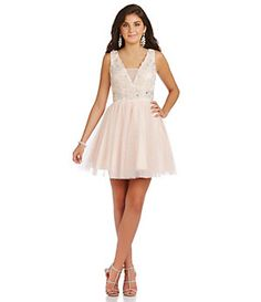 B. Darlin Sleeveless Beaded Bodice Party Dress | Dillard's Mobile