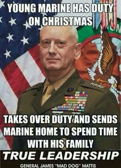 What a Marine, what a leader, no wonder they loved the man