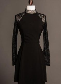 Audrey Lace Dress,  Dress, lace vintage victorian sleeve lbd, Chic
