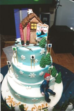 Ski Lodge Bar Mitzvah Cake The Event Of A Lifetime, Inc.