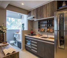 "955 Likes, 27 Comments - Eu Te Inspiro - Arquitetura (@euteinspiro) on Instagram: ""Cozinha integrada por @luisafgrillo #cozinha #cozinhas #kitchen #kitchens #cucina #kookken #cocina…"""