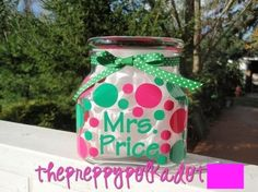 Make a personalized candy jar for your desk! (I need a #silhouette!)