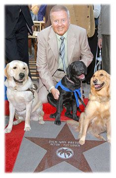 dick van patten with guide dogs in palm springs