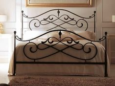 Vintage Style of Wrought Iron Queen Bed Frame Iron Furniture, Home Decor Furniture, Steel Bed Design, Wrought Iron Beds, Iron Table, Metal Beds, French Country Decorating, Bed Frame, Bedroom Decor