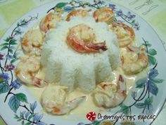 Great recipe for Five star shrimps. Recipe by Τράγα Vegetable Stock Cubes, Good Food, Yummy Food, Delicious Recipes, Greek Cooking, Tomato Vegetable, Greek Recipes, Shrimp Recipes, Fish And Seafood