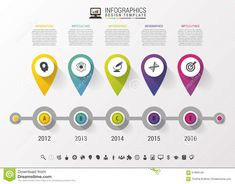 Timeline Infographic With Pointers And Text In Modern Style. Vector Design Template Stock Vector - Illustration of history, network: 57896146 Flat Design, App Design, Customer Journey Mapping, Timeline Infographic, Designer Wallpaper, Editorial Design, Vector Design, Pointers, Illustration