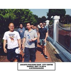 Participants of #JakartaWalkingTour today. 6 new friends from Jakarta and 2 other new friends from Bristol, UK.