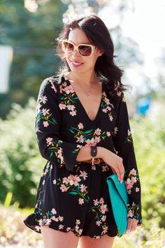 Style Rhapsody: Floral Romper