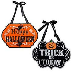 Dii Indoor And Outdoor Wood Fall Halloween Hanging Door Decorations And Wall Signs Haunted House Decor For Home School Office Party Decorations Halloween Banner, Halloween Signs, Outdoor Halloween, Easy Halloween, Vintage Halloween, Halloween Decorations, Halloween Parties, Halloween Crafts, 1960s Halloween