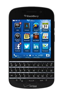 It's iconic and familiar, and it provides for fast, accurate messages. It's the QWERTY keyboard on the BlackBerry Q10. The classic BlackBerry Keyboard has been reengineered and elegantly designed to help you type fast, accurately and with the least amount of effort. Plus with Instant Action it allows you to type and perform tasks faster by using shortcuts. This 4G LTE smartphone helps you take action, and the long-life battery keeps you connected. Flow between conversations and tasks by ...