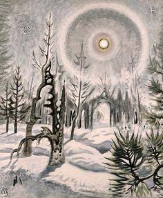 """Winter Moonlight"" 1951  Charles Burchfield."