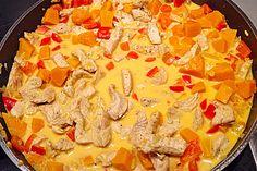 Puten - Kürbis - Geschnetzeltes, ein sehr schönes Rezept aus der Kategorie Geflügel. Bewertungen: 204. Durchschnitt: Ø 4,4.