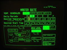 Post with 8492 votes and 1739689 views. My house has a working total home automation system including touchscreen. from 1985 Gui Interface, Interface Design, Ui Design, Graphic Design, Cyberpunk, Pixel Art, Science Fiction, Pulp Fiction, Home Automation System