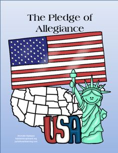 The Pledge of Allegiance from Joyful Heart Learning on TeachersNotebook.com -  (50 pages)  - Need a way for students to learn the Pledge of Allegiance?  This easy booklet, coloring sheets, copywork, and vocabulary focus will help your early elementary kids learn the meaning behind the text!