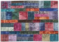 Overdyed Patchwork Rug - 39605 | London House Rugs