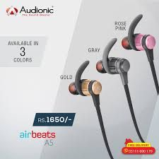 Find Audionic Airbeats A 5 2018price In Pakistan Comparebox Provides Complete Information For Audionic Airbeats A 5 New M Bluetooth Earphones Earphone Reviews