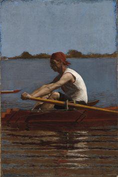 'John Biglin in a SingleScull' (1874) by Thomas Eakins