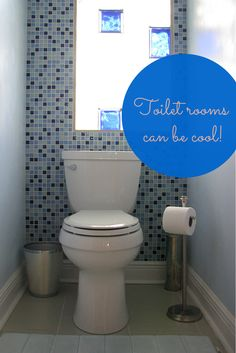 Even Toilet Rooms Can Be Cool Love How This Colored Gl Block Window Really Brightens