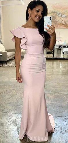 Popular Pale Pink Cheap Mermaid Long Bridesmaid Dresses Online, WG550#bridesmaids #bridesmaiddress #bridesmaiddresses #dressesformaidofhonor #weddingparty #2020bridesmaiddresses