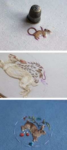 Bozuk Para Büyüklüğünde Nakışlar   #micro #embroidery #handmade #mikro #nakış #elyapımı