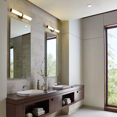 Refined Yet Stylish The Lynk Bath Vanity Light Simultaneously Complements A Wide Range Of Bathroom Decors Wh Bathroom Interior Modern Bathroom Bathroom Design