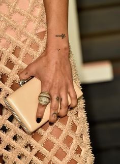 Zoe Kravitz's little tatts