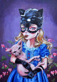 Little Mischief art print  limited edition by JulieFilipenko