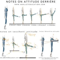 """A Ballet Education on Instagram: """"NOTES ON ATTITUDE DERRIÉRE... Different…"""