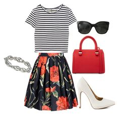 """""""Stripes and Florals"""" by nicole-bryner ❤ liked on Polyvore"""