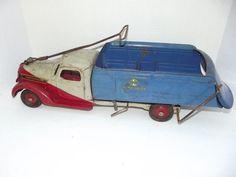 Rare Antique Buddy L Ride On Dump Truck 1930's Pressed Steel Toy Truck #BuddyL #International