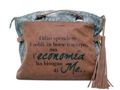 "LE #PANDORINE - Borsa NEW PON PON ""Economia..."" in ecopelle - Tabacco -- Elsa-boutique.it <3"