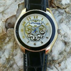 Montana Silversmith Western Watch Gorgeous watch like new condition only worn twice, Genuine Leather Strap and nice face details Montana Silversmith  Jewelry