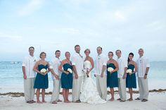 beach wedding attire for groom and groomsmen | Real Weddings: Tiger and Julie | Debra Torres