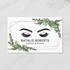 Lashes Makeup Artist Rose Gold Geometric Greenery Business Card Salon Business Cards, Gold Business Card, Makeup Artist Business Cards, Elegant Business Cards, Business Card Size, Business Card Design, Makeup Artist Cards, Rose Gold Frame, Lashes