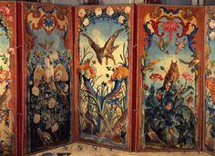 Paravent à six feuilles  Manufacture de la Savonnerie Vers 1735-1740