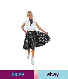 Plus Taille Short Long Polka Dot Jupe Déguisement Rock N Roll 1960 S Standard
