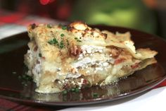 Pierogi Lasagna - from The Chew's Michael Symon (it's Greek).... Carla said this pierogi dough is ABSOLUTELY BEAUTIFUL ! I think I must try this. I love mashed potatoes with carmelized onions atop, so if you layer them with a great pasta and some cheeses ..... oooooh weeeeee   :-) :-) :-) / kj