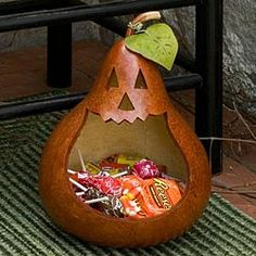 pumpkin candy gourd for halloween