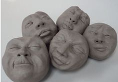 These are pinch pot rattles a great idea for yr7/8 pottery lessons in the me, myself and I art lesson.